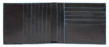 Кошелек мужской Piquadro Blue Square черный, кожа натуральная (PU1241B2R/N)