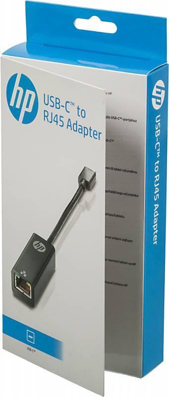 Переходник HP USB Type C-RJ45 черный (V8Y76AA) - фото 5