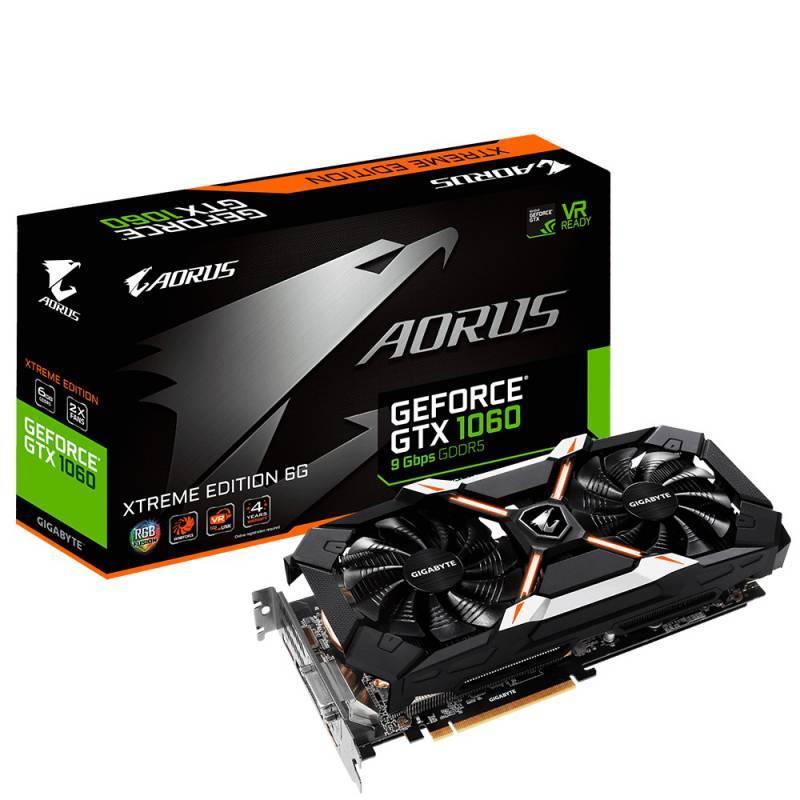 Видеокарта Gigabyte AORUS X GeForce GTX 1060 6G 6144 МБ (GV-N1060AORUS X-6GD) - фото 1