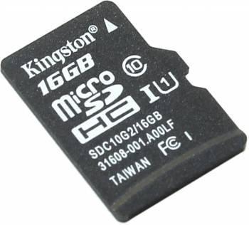 Карта памяти microSDHC 16Gb Class10 Kingston SDC10G2 / 16GBSP