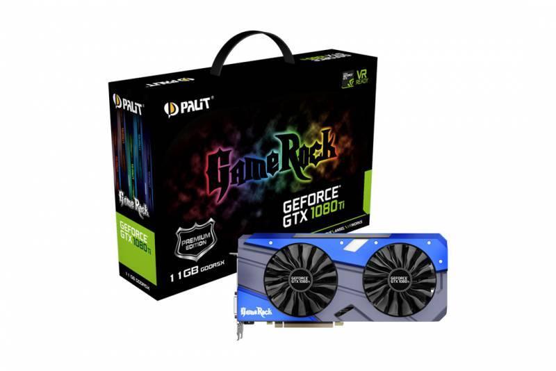 Видеокарта Palit PA-GTX1080TI GameRock Premium 11G 11264 МБ (NEB108TH15LC-1020G) - фото 5