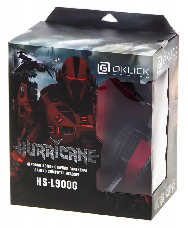Наушники с микрофоном Oklick HS-L900G HURRICANE черный (HS-L900G) - фото 9