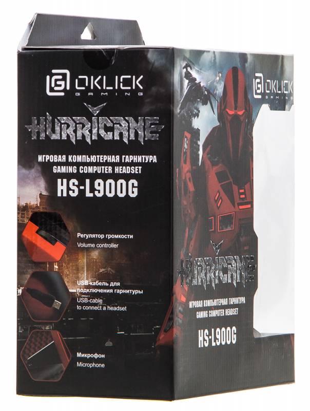 Наушники с микрофоном Oklick HS-L900G HURRICANE черный (HS-L900G) - фото 11