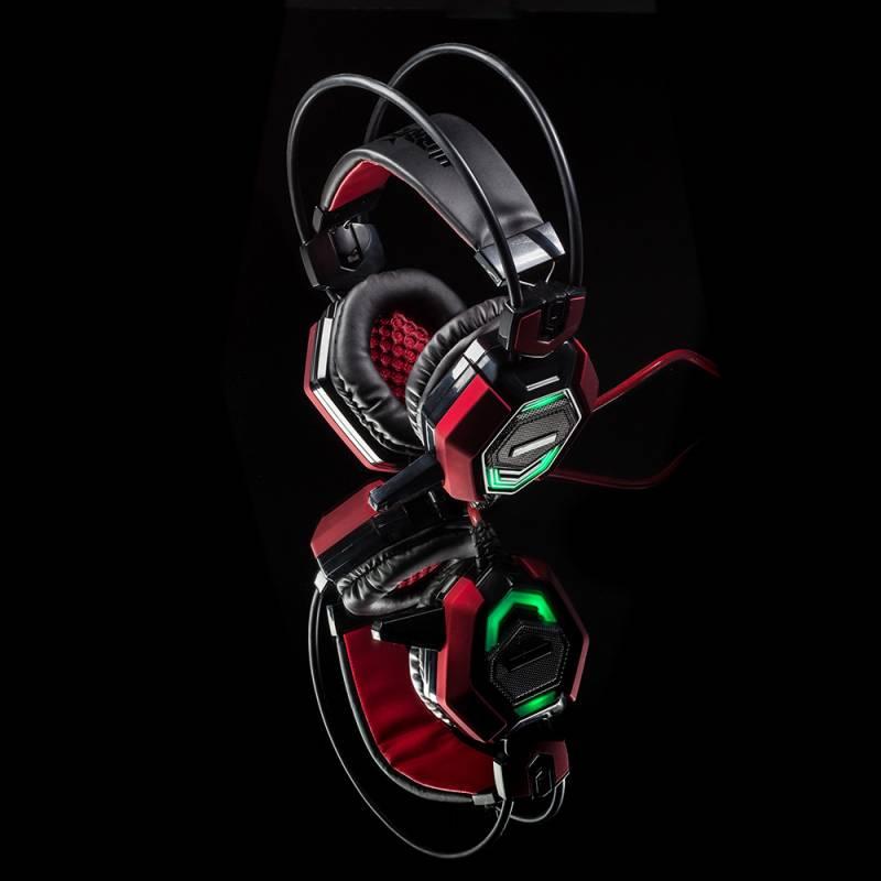 Наушники с микрофоном Oklick HS-L900G HURRICANE черный (HS-L900G) - фото 14