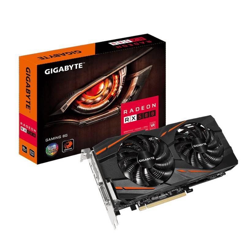 Видеокарта Gigabyte Radeon RX 580 Gaming 8G 8192 МБ (GV-RX580GAMING-8GD) - фото 1