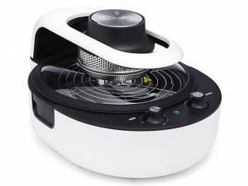 Аэрогриль Kitfort KT-1621-1 белый/черный, мощность 1800Вт, нагревательный элемент: галогеновый