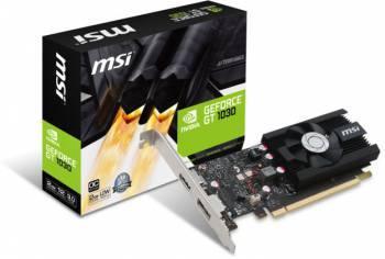 Видеокарта MSI GT 1030 2G LP OC, процессор nVidia GeForce GT 1030 1265 МГц, объем видеопамяти 2048 Мб 64 бит GDDR5 6008 МГц, интерфейс PCI-E/HDMIx1/DPx1, поддержка HDCP, low profile, Ret