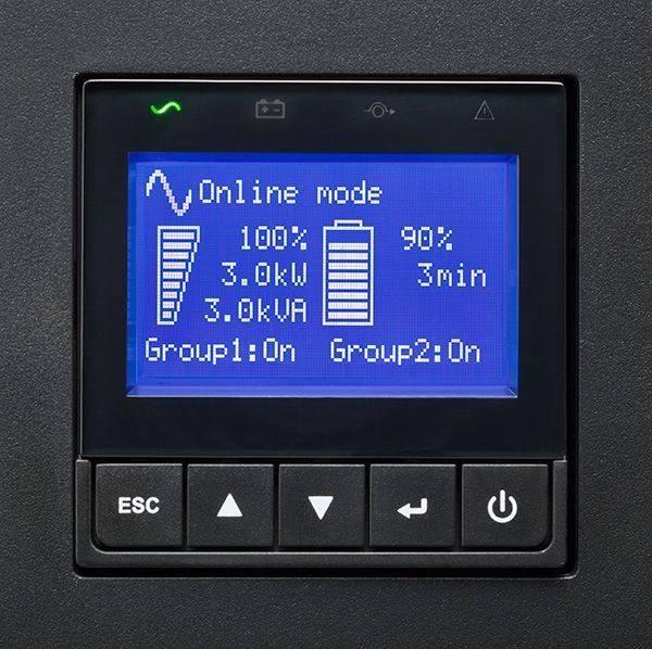 ИБП Eaton 9PX 1000i RT2U черный (9PX1000IRT2U) - фото 2
