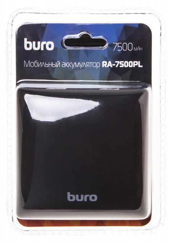 Мобильный аккумулятор BURO RA-7500PL-BK Pillow черный - фото 8