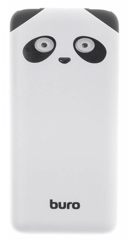 Мобильный аккумулятор BURO RA-10000PD-WT Panda белый (RA-10000PD-WT) - фото 2
