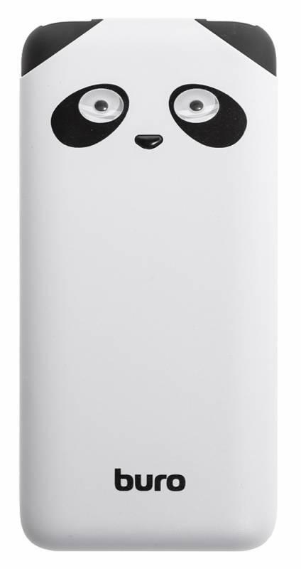 Мобильный аккумулятор BURO RA-10000PD-WT Panda белый (RA-10000PD-WT) - фото 3