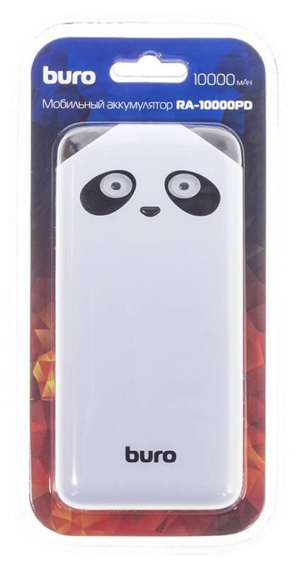 Мобильный аккумулятор BURO RA-10000PD-WT Panda белый (RA-10000PD-WT) - фото 7