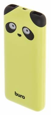 Мобильный аккумулятор BURO RA-10000PD-GN Panda лайм (RA-10000PD-GN)