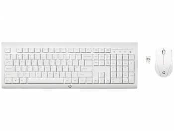 Комплект клавиатура+мышь HP C2710 белый/белый (M7P30AA)