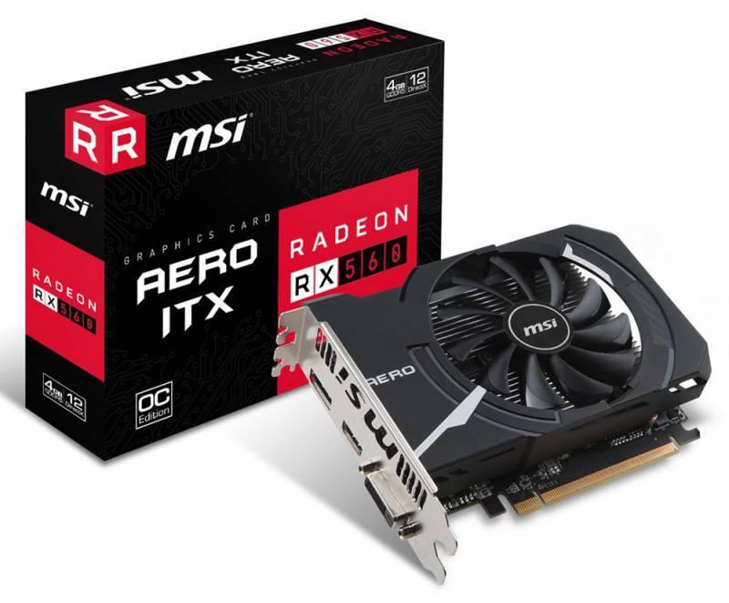 Видеокарта MSI RX 560 AERO ITX 4G OC 4096 МБ - фото 6