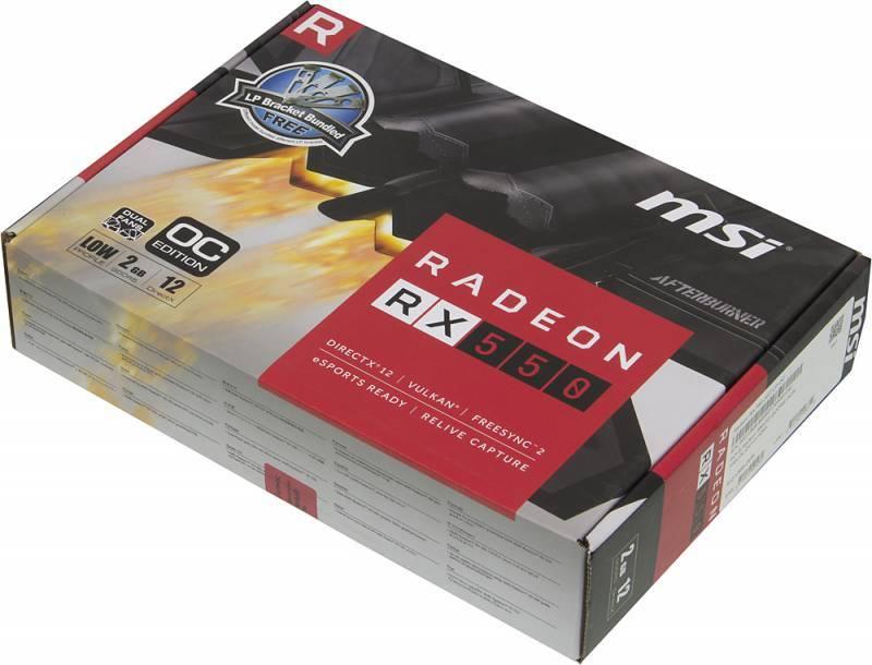 Видеокарта MSI RADEON RX 550 GT LP OC 2048 МБ (RX 550 2GT LP OC) - фото 5