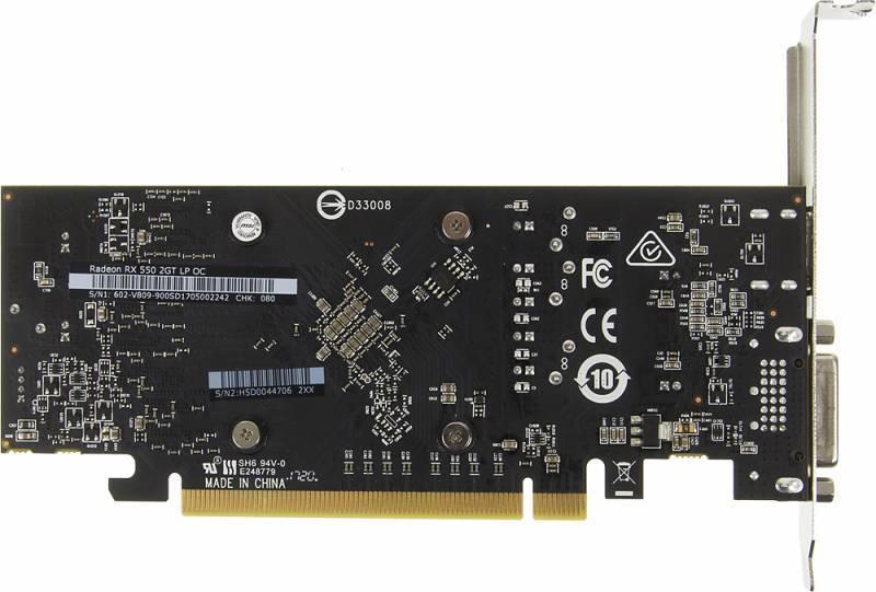 Видеокарта MSI RADEON RX 550 GT LP OC 2048 МБ (RX 550 2GT LP OC) - фото 3