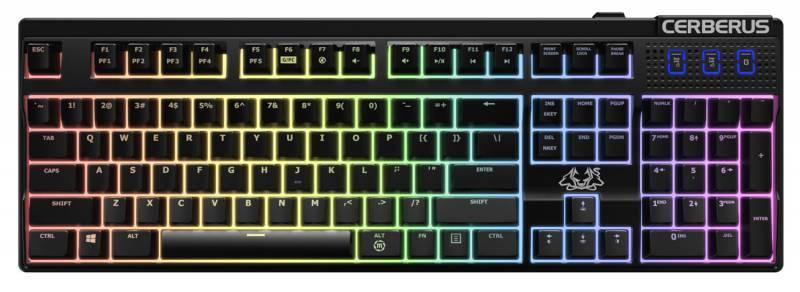 Клавиатура Asus CERBERUS RGB Brown Switch черный - фото 1