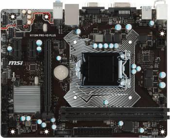 Материнская плата MSI H110M PRO-VD PLUS Soc-1151 mATX