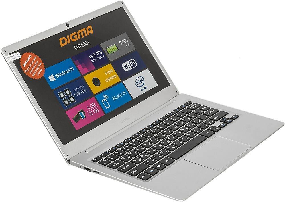 "Ноутбук 13.3"" Digma CITI E301 серебристый (ES3008EW) - фото 7"