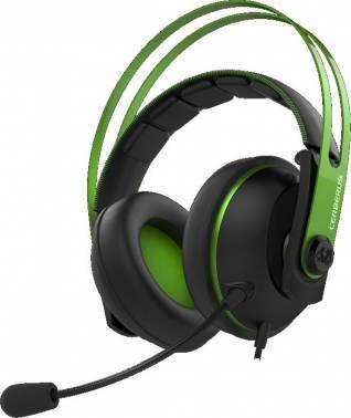 Наушники с микрофоном Asus Cerberus V2 зеленый / черный