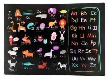 Накладка на стол Silwerhof 671616 Английский алфавит пластик 1мм
