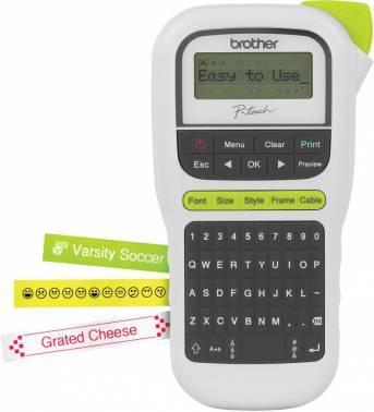 Принтер для печати наклеек Brother P-touch PT-H110 черный / белый