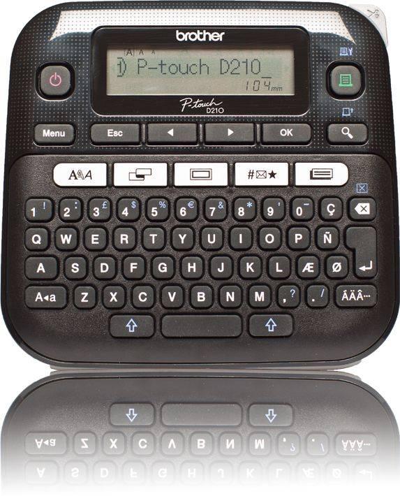 Принтер для печати наклеек Brother P-touch PT-D210VP черный (PTD210VPR1) - фото 1