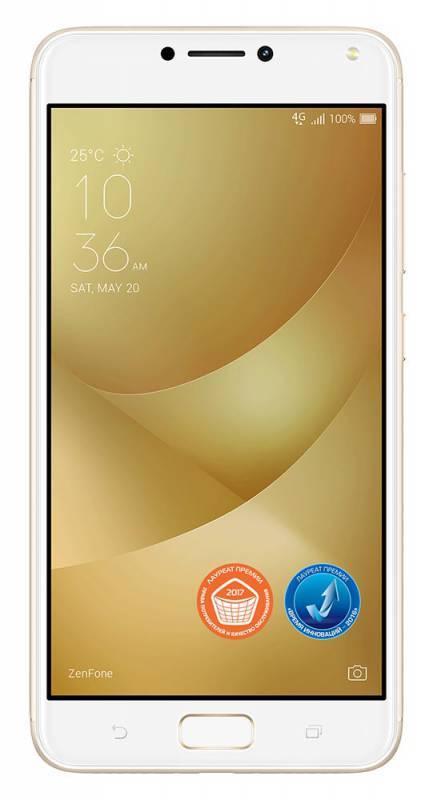 Смартфон Asus ZenFone Max ZF4 ZC554KL 16ГБ золотистый (90AX00I2-M00020) - фото 1
