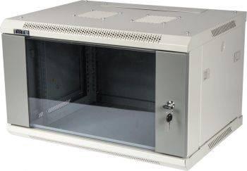 Шкаф коммутационный Lanmaster TWT-CBWPG-9U-6X6-GY 9U серый