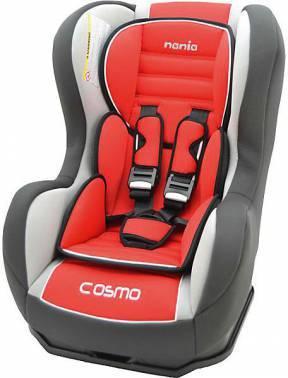 Автокресло детское Nania Cosmo SP LX (agora carmin) красный / серый