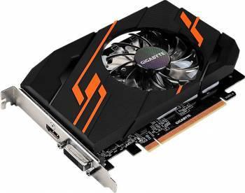 Видеокарта Gigabyte GV-N1030OC-2GI, процессор nVidia GeForce GT 1030 1265 МГц, объем видеопамяти 2048 Мб 64 бит GDDR5 6008 МГц, интерфейс PCI-E, разъёмы DVIx1/HDMIx1, поддержка HDCP, Ret
