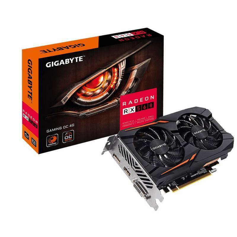 Видеокарта Gigabyte Radeon RX 560 GAMING OC 4G 4096 МБ (GV-RX560GAMING OC-4GD) - фото 5