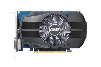 Видеокарта Asus PH-GT1030-O2G, процессор nVidia GeForce GT 1030 1278 МГц, объем видеопамяти 2048 Мб 64 бит GDDR5 6008 МГц, интерфейс PCI-E, разъёмы DVIx1/HDMIx1, поддержка HDCP, Ret