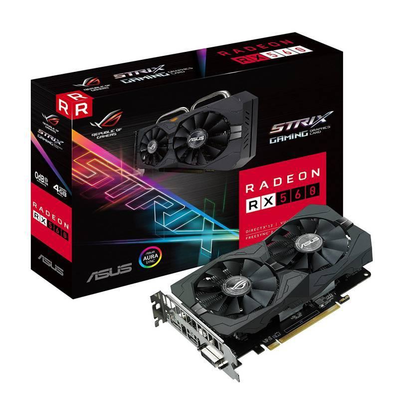 Видеокарта Asus Radeon RX 560 4096 МБ (ROG-STRIX-RX560-4G-GAMING) - фото 1
