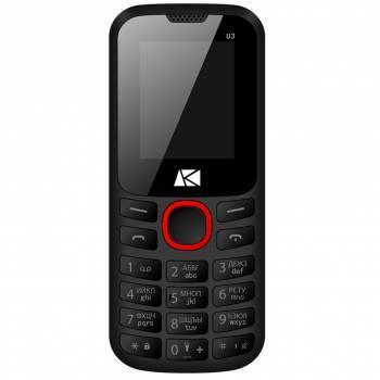 Мобильный телефон ARK U3 черный / красный / красный
