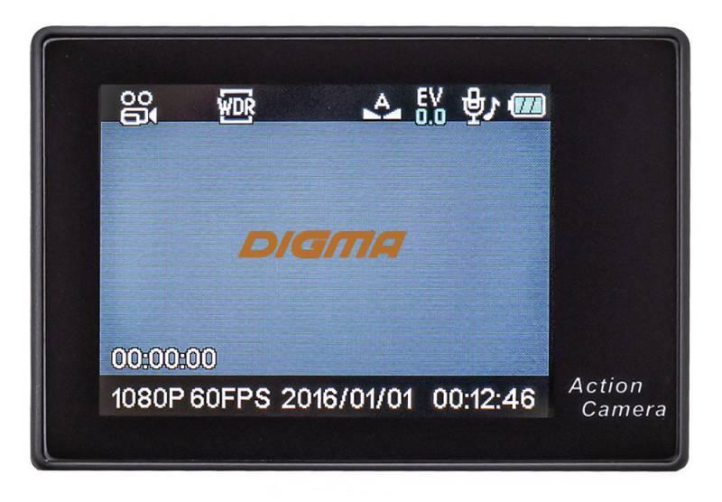 Экшн-камера Digma DiCam 72C черный (DC72C) - фото 11