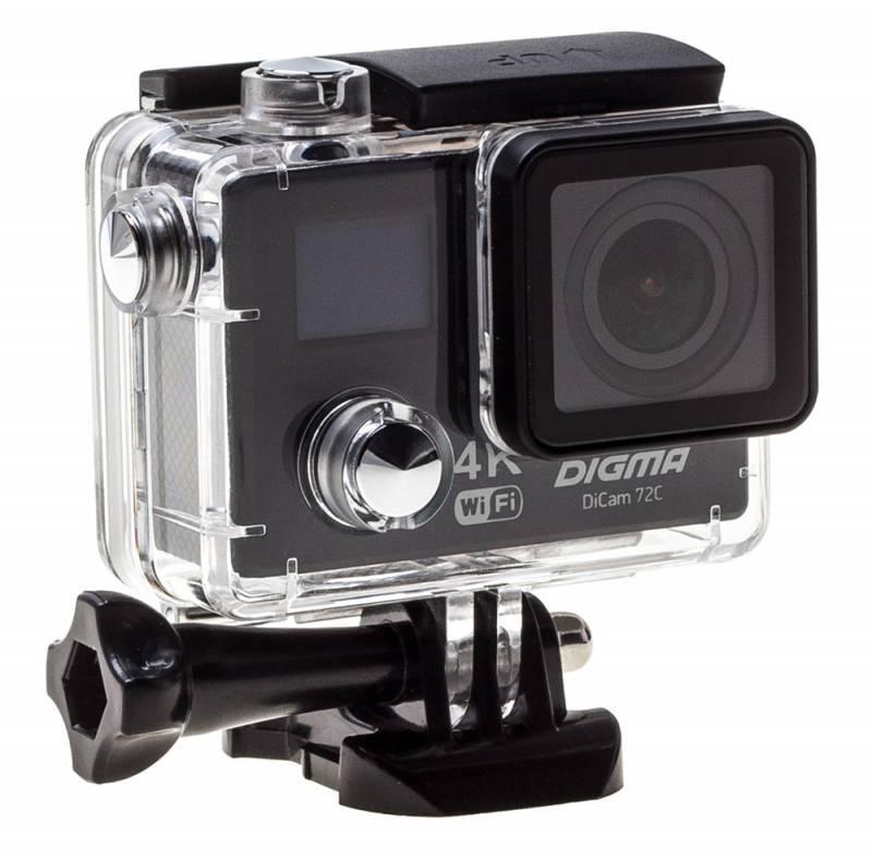 Экшн-камера Digma DiCam 72C черный - фото 15