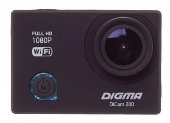 Экшн-камера Digma DiCam 200 черный