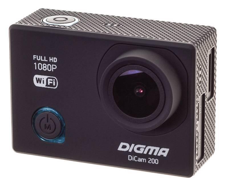 Экшн-камера Digma DiCam 200 черный - фото 8