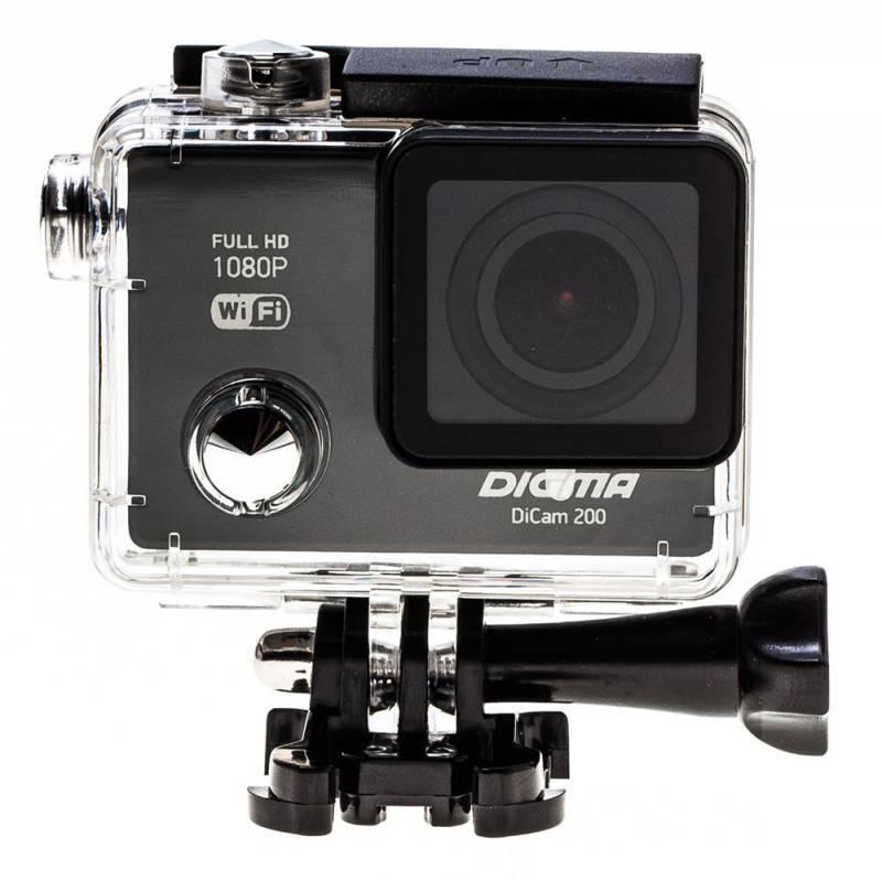 Экшн-камера Digma DiCam 200 черный - фото 13
