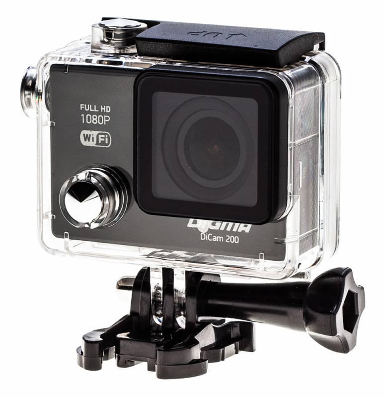 Экшн-камера Digma DiCam 200 черный - фото 14