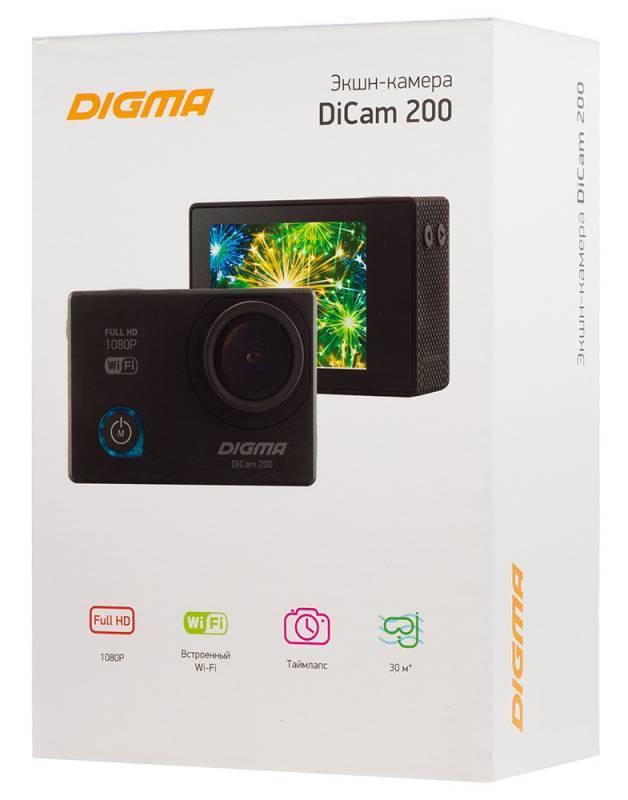 Экшн-камера Digma DiCam 200 черный - фото 19