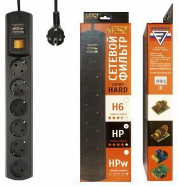 Сетевой фильтр Most HP 2м черный (HP 2М ЧЕР)