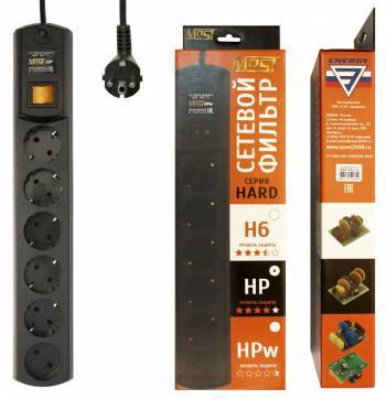 Сетевой фильтр Most HP 5м черный (HP 5М ЧЕР)