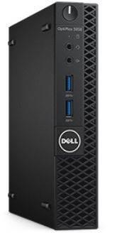 ПК Dell Optiplex 3050 черный/серебристый, процессор Intel Core i3 7100T, оперативная память 4Gb, накопитель SSD 128Gb, видеокарта Intel HD Graphics 630, Micro, Windows 10 Professional 64-bit, Eth, в комплекте клавиатура+ мышь