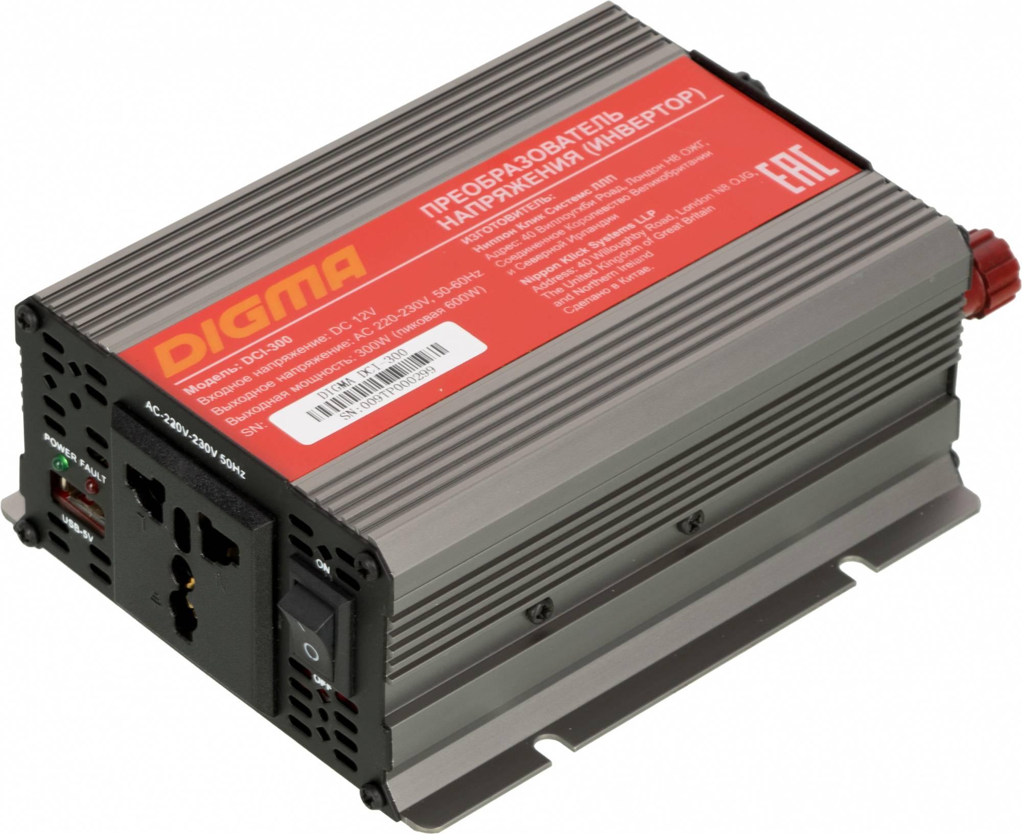 Преобразователь напряжения Digma DCI-300 - фото 1