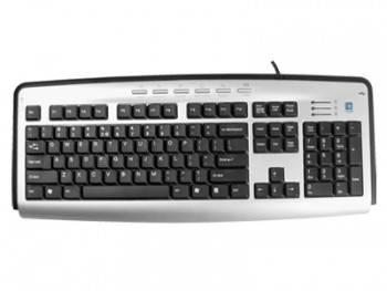 Клавиатура A4 KLS-23MU серебристый / черный