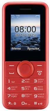 Мобильный телефон Philips E106 красный