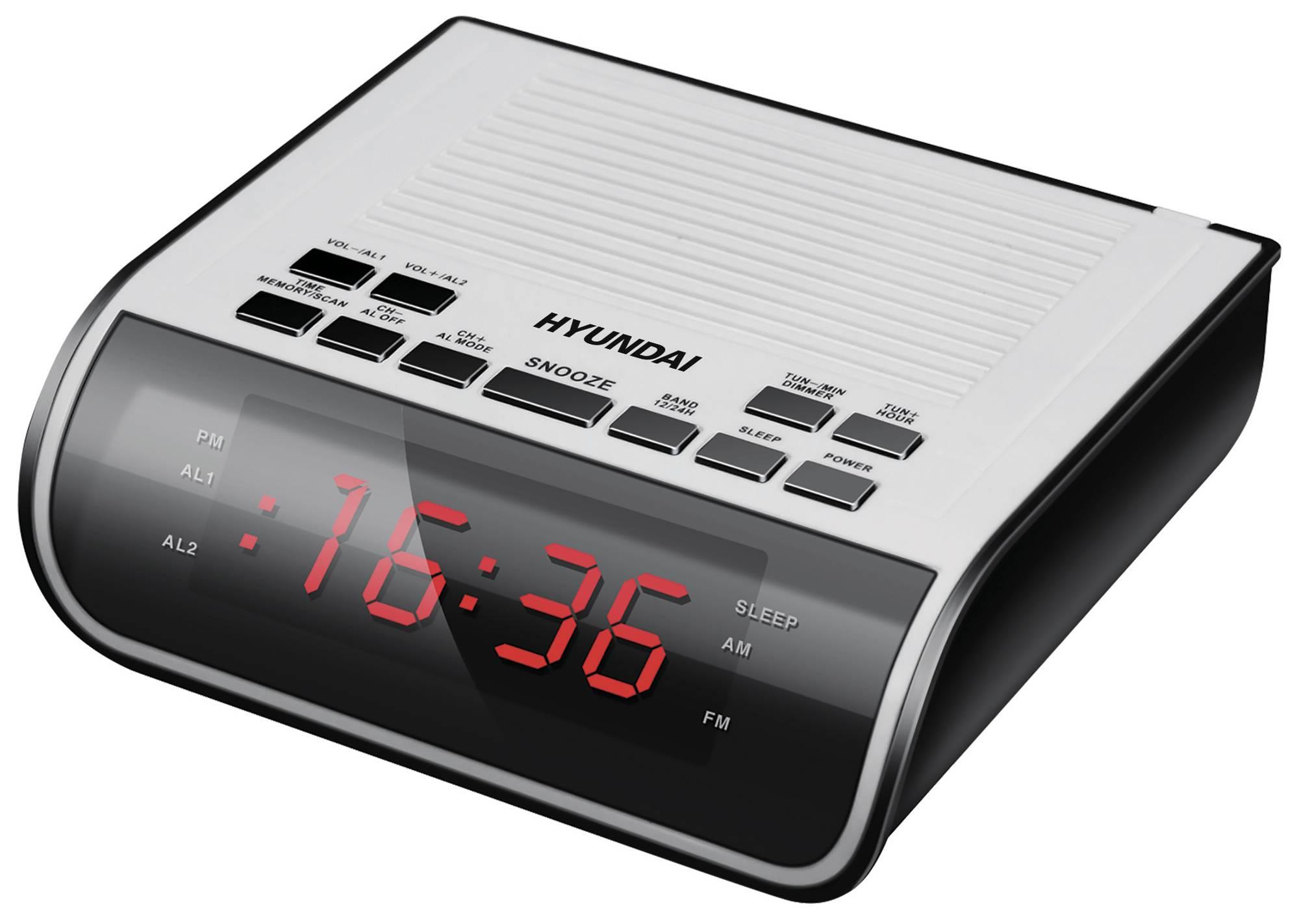 Радиобудильник Hyundai H-RCL100 белый - фото 1